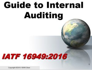 16949:2016 Internal Auditor Training Materials