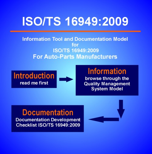 ISO/TS 16949:2009  - Information Tool and Documentation Model for Quality Systems for Auto-Parts Manufacturers (Download)